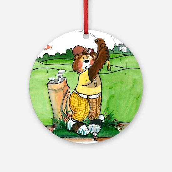 Humorous Golf Ornament (Round)