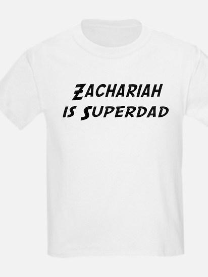 Zachariah is Superdad T-Shirt