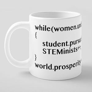 STEMinist Student Pursue Ma 20 oz Ceramic Mega Mug