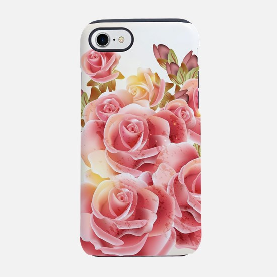 Artistic Pink Roses iPhone 7 Tough Case