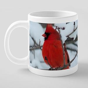 Snow Cardinal 20 oz Ceramic Mega Mug