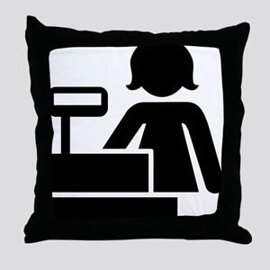 Cashier Throw Pillow