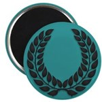 Teal with Black 2.25