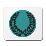 Teal with Black Mousepad