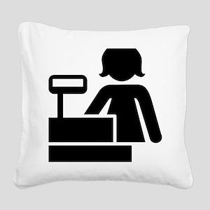 Cashier Square Canvas Pillow