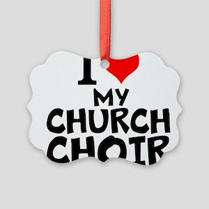 I Love My Church Choir Ornament