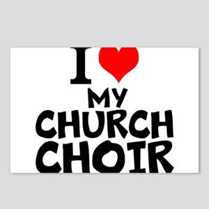 I Love My Church Choir Postcards (Package of 8)