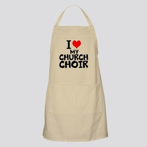 I Love My Church Choir Light Apron