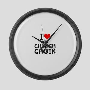 I Love My Church Choir Large Wall Clock