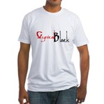 CynicalBlack Logo Fitted T-Shirt