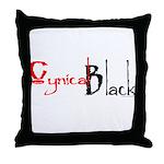 CynicalBlack Logo Throw Pillow