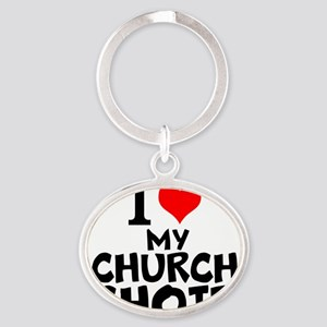 I Love My Church Choir Keychains