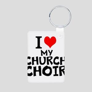 I Love My Church Choir Keychains