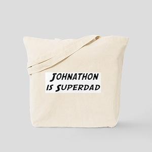 Johnathon is Superdad Tote Bag