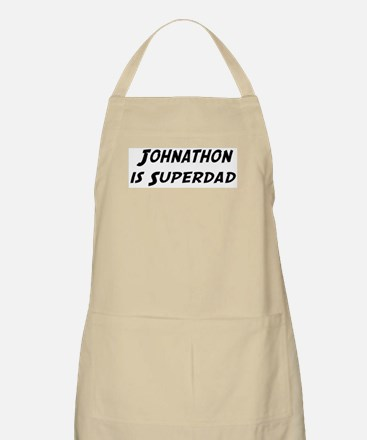 Johnathon is Superdad BBQ Apron