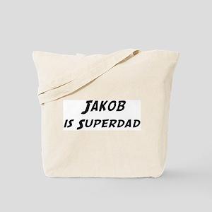 Jakob is Superdad Tote Bag