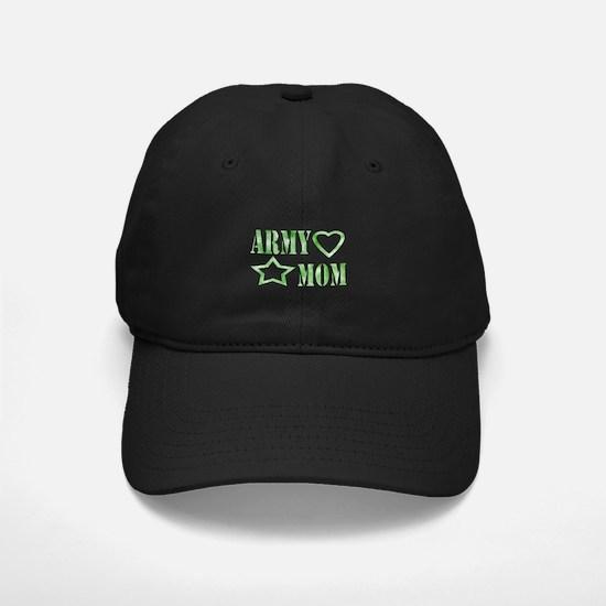 Army Mom Heart/Star Baseball Hat