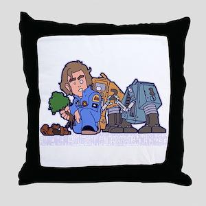 Silent Running Throw Pillow
