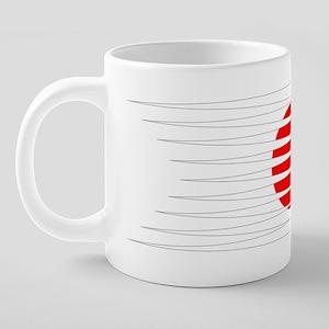 FootballDesign JAPAN White. 20 oz Ceramic Mega Mug