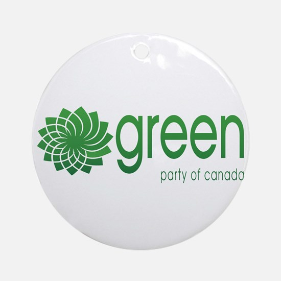 Green Party of Canada Ornament (Round)