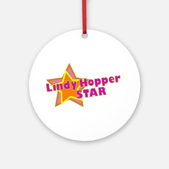 Lindy Hopper Star Ornament (Round)