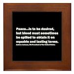Andrew Jackson Quote Framed Tile
