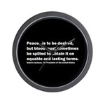 Andrew Jackson Quote Wall Clock