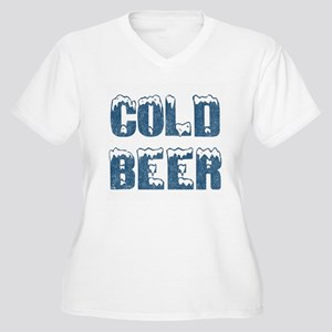 Cold Beer Women's Plus Size V-Neck T-Shirt