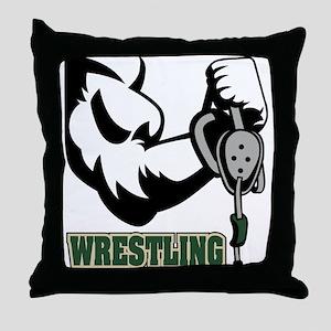 Wrestling Throw Pillow