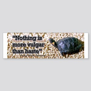 Turtle: Vulgar Haste Bumper Sticker