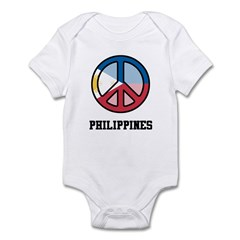 Peace In Philippines Infant Bodysuit