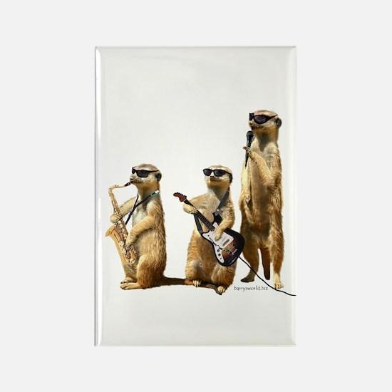 Meerkat Trio2 Rectangle Magnet (10 pack)