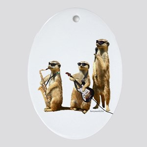 Meerkat Trio2 Oval Ornament