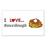 I Love Sourdough Sticker (Rectangle 50 pk)