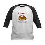 I Love Sourdough Kids Baseball Tee