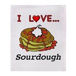 I Love Sourdough Throw Blanket