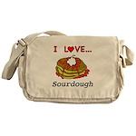 I Love Sourdough Messenger Bag
