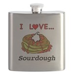 I Love Sourdough Flask