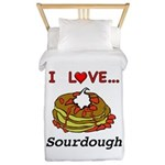 I Love Sourdough Twin Duvet Cover