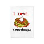 I Love Sourdough 5'x7'Area Rug