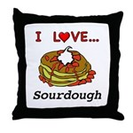 I Love Sourdough Throw Pillow