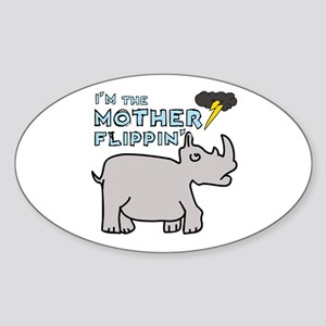Motherflippin' Oval Sticker