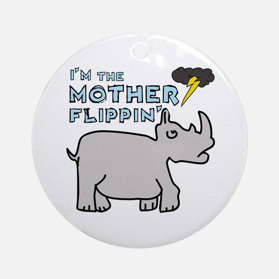 Motherflippin' Ornament (Round)