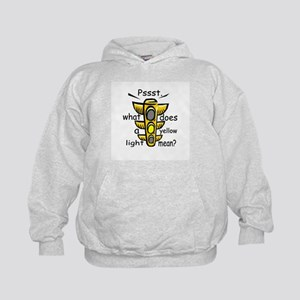 What Does A Yellow Light Mean Kids Hoodie