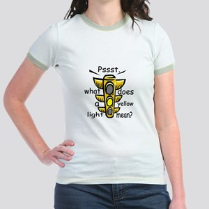 What Does A Yellow Light Mean Jr. Ringer T-Shirt
