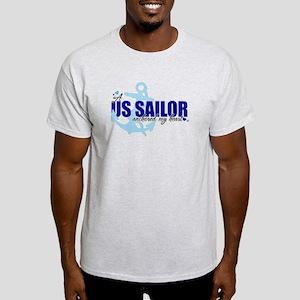 A U.S. Sailor Anchored My Heart Light T-Shirt