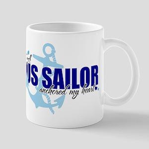 A U.S. Sailor Anchored My Heart Mug