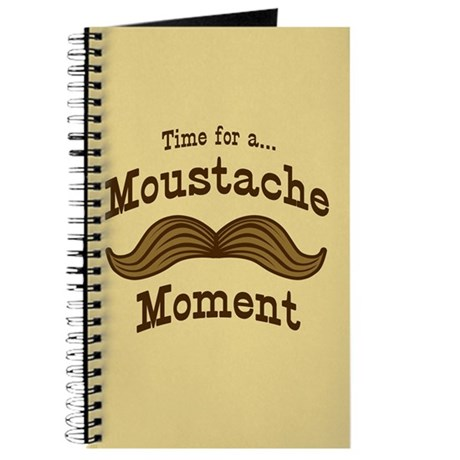 Time For A Moustache Moment Journal