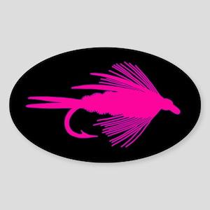 PINK FLY - Oval Sticker