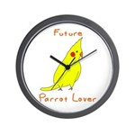 Future Parrot Lover Wall Clock